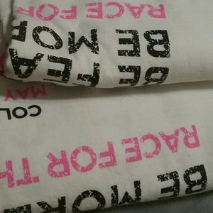 Two - 3xl race for the cure tshirts